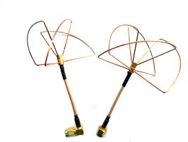 2.4Ghz Clover Leaf Antenna Set Left Handed Circular Polarization