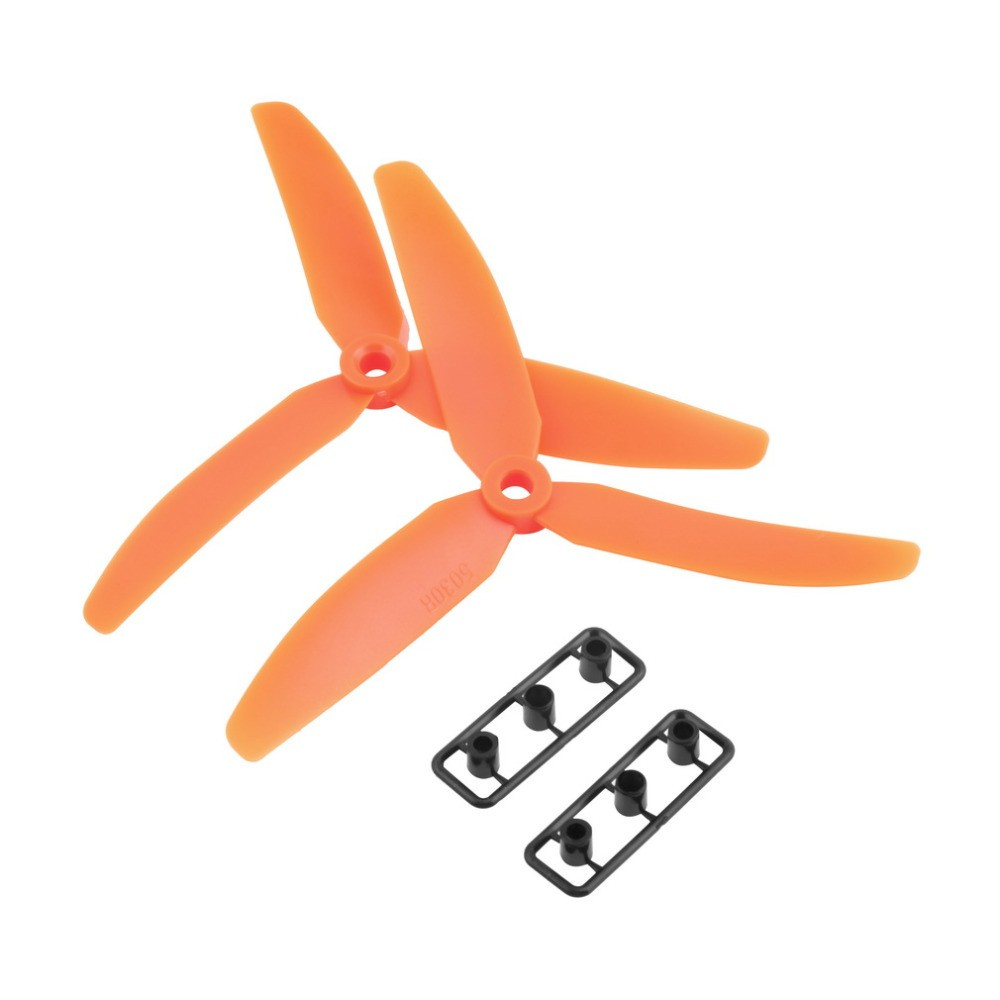 3 Blade Tri Propeller 6x4.5 Orange Nylon CCW CW