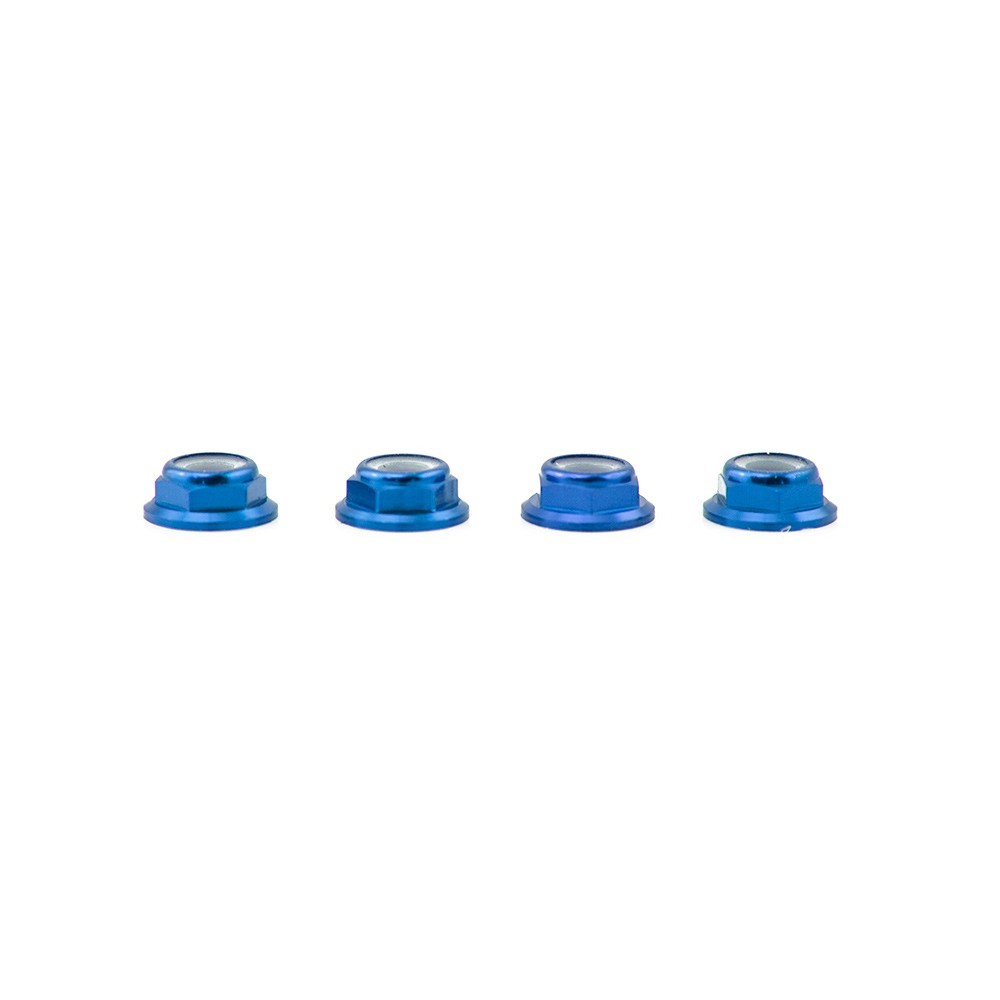 Lumenier M5 Blue Aluminum Low Profile Lock Nuts