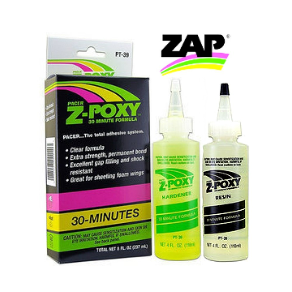 Pacer Zap PT-39 Z-POXY 30 Minute Epoxy Resin 8oz Pack