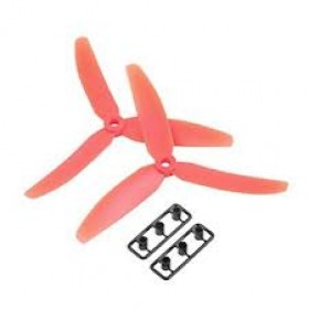 3 Blade Tri Propeller 5x3 Red Nylon CCW CW