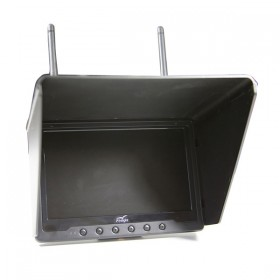 """Flysight Black Pearl 7"""" FPV LCD HD Monitor with Built in Diversity Receiver 40 Channel 5.8GHz"""