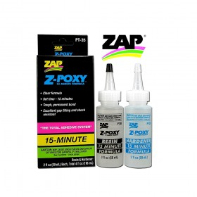 Pacer Zap PT-35 Z-POXY 15 Minute Epoxy Resin 4oz Pack