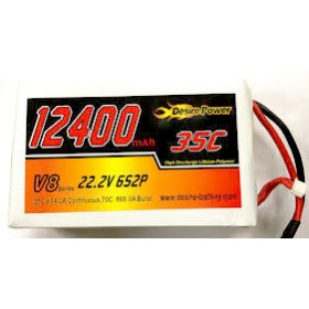 Desire Power 6S LiPo Battery 12400 mAh 35C