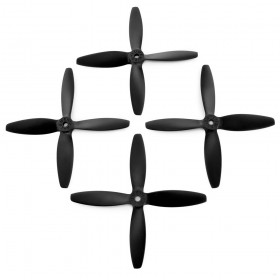 Lumenier 5x4x4 V2 Transparent 4 Blade Propeller Set Of 4 Black
